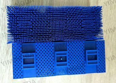 China Auto Cutter Bristle Block 49442 Blue Poly Material 150 * 60 * 60mm For Kuris ZAT3 Cutter distributor
