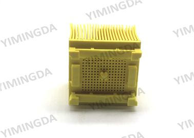 China Nylon Square Foot Brush Yellow Color Auto Cutter Bristle 50 * 50 *43mm For Orox distributor